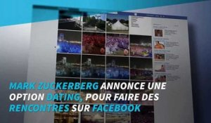 Mark Zuckerberg annonce une option dating sur Facebook