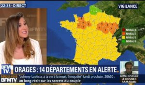 Orages : 14 départements en vigilance orange