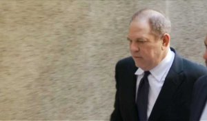 Harvey Weinstein arrive au tribunal de New York
