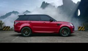 World First as a Range Rover Sport PHEV Climbs to China's Heaven's Gate Trailer