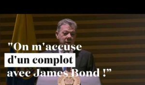"Santos répond à Maduro : ""On m'accuse d'un complot avec James Bond !"""