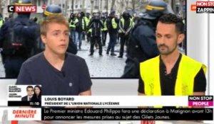 1a4909c87acb Morandini Live   Un lycéen refuse de condamner les violences des  manifestants, tensions sur le