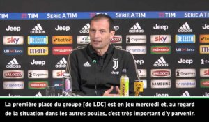 "15e j. - Allegri : ""Pas le match le plus important"""