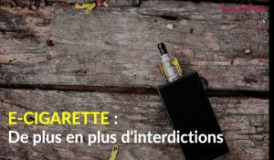 E-cigarette : de plus en plus d'interdictions