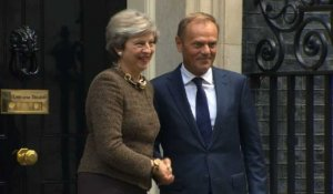Brexit: rencontre May-Tusk à Downing Street