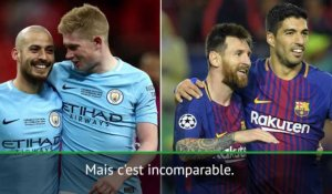 "8es - Guardiola : ""Incomparable par rapport à Barcelone, on a juste gagné un titre"""