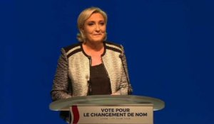 Le Front National renommé Rassemblement National (Marine Le Pen)