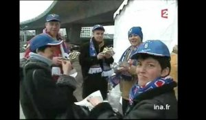 Les supporters de France - Angleterre
