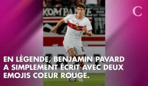 PHOTO. Le tendre message d'amour de Benjamin Pavard à Rachel Legrain-Trapani