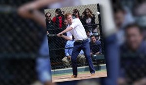 Le Prince Harry marque des points au baseball à New York