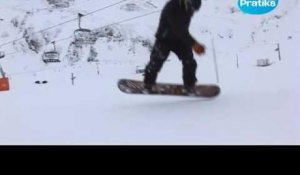 Initiation snowboard: Comment fait un switch 180 back.