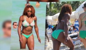 Serena Williams dévoile ses muscles en bikini à Miami