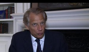 Syrie: Villepin contre une intervention militaire