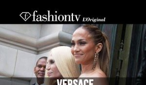 Jennifer Lopez, Miroslava Duma at Atelier Versace Fall 2014 | Paris Couture Fashion Week | FashionTV