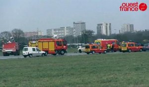 crash d'un avion de tourisme a l'aéroport de Rennes Saint-Jacques