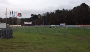cross Ouest-France: installation du village