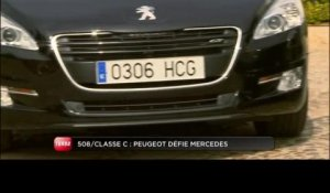 Comparatif Peugeot 508 / Mercedes Classe C (Emission Turbo du 10/04/2011)
