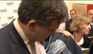 Arnaud Montebourg en visite au Salon du Made in France - 09/11