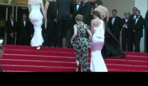 Tommy Lee Jones et Hilary Swank sur le tapis rouge de 'The Homesman'