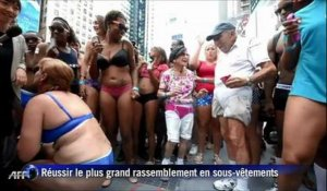 New-York: le plus grand rassemblement de fêtards ... en sous-vêtements!