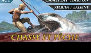 Assassin's Creed 4 Black Flag - Gameplay  Harpon Chasse et Pêche ( Requin / Baleine )