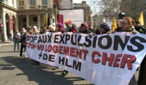 Paris: manifestation contre les expulsions locatives