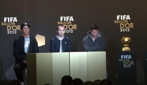 Football: Messi, Ronaldo et Iniesta finalistes du Ballon d'Or