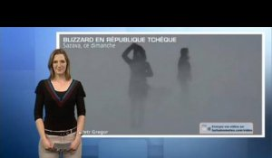 Blizzard, neige, orages en Europe