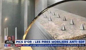 Pics d'or : les pires mobiliers anti-SDF