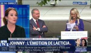 Johnny: l'émotion de Laeticia