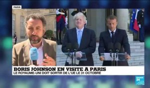 Johnson reçu par Macron : La question du backstop, cœur de l'impasse sur le Brexit