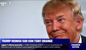 Trump ironise sur son teint orange - 16/09