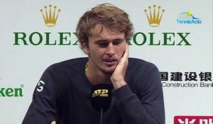 "ATP - Shanghai 2019 - Alexander Zverev is still in the running for the London Masters : ""It's a positive week"""