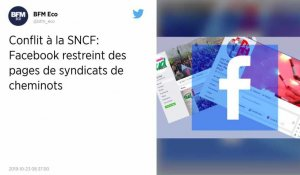 Mouvement social à la SNCF : des comptes Facebook de syndicats de cheminots censurés ?