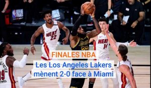 NBA: Les Lakers mènent 2-0 face à Miami en finale
