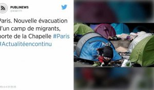 Paris. Nouvelle évacuation d'un camp de migrants, porte de la Chapelle
