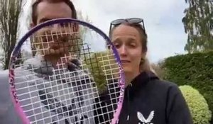ATP - Andy Murray and his wife challenge Roger and Mirka Federer : 100 Volley Challenge !