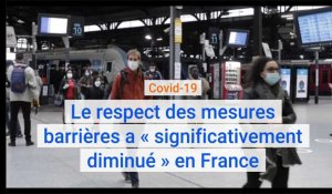 Covid-19 : le respect des mesures barrières a « significativement diminué » en France