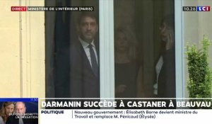 VIDEO - Christophe Castaner attend Gérald Darmanin à Beauvau