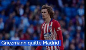 Football : Antoine Griezmann quitte l'Atlético Madrid