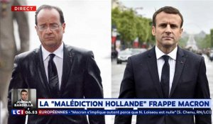"La ""malédiction Hollande"" frappe Macron"