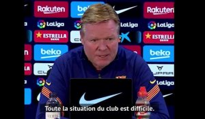 "Barcelone - Koeman : ""Il y a beaucoup d'incertitudes au club"""