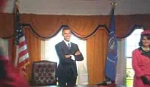 Le ticket Clinton - Obama... chez Madame Tussaud