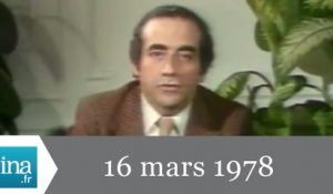 13h Antenne 2 du 16 mars 1978 - En direct du RPR - Archive INA