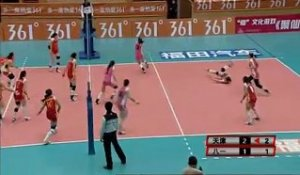 Chine : 16 échanges au volley-ball féminin