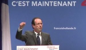 Meeting de François Hollande à Aurillac