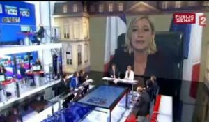 Réaction de Marine Le Pen à l'élection de François Hollande