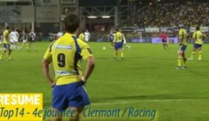Top14 2012-2013- J4 - Clermont-Racing : le résumé