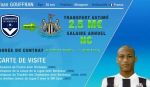 Officiel : Yoan Gouffran file à Newcastle !