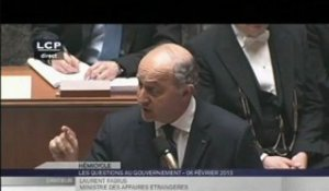 Mali - Laurent Fabius - Questions au Gouvernement (Assemblée Nationale, 06.02.2013)